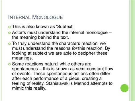 Deciphering Subtext by Stanislavski