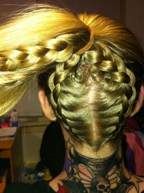 cute hairstyles zipper braid double zipper braid hair makeup pinterest braids