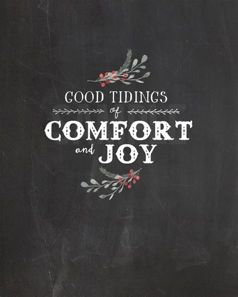 good tidings of comfort and joy christmas chalkboard printable good tidings live laugh