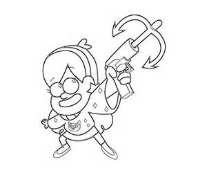 gravity falls coloring pages free coloring pages of gravity falls mabel