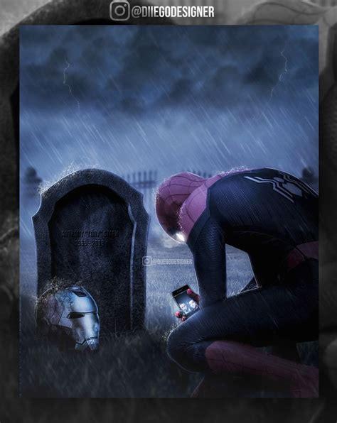 artstation spiderman rip tony stark diiego designer