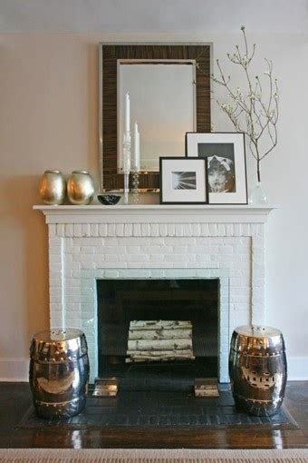 White Brick Fireplace Decorating Ideas by White Brick Fireplace Home Decor