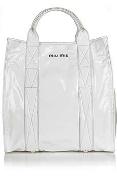 Bag Envy Miu Mius Patent Coffer Tote by Miu Miu Womens Fashion Bags