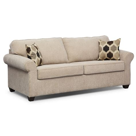 sleeper sofa value city fletcher queen memory foam sleeper sofa beige value