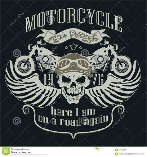 T Shirt 00928 Fly Rider motorcycle design template logo skull rider stock