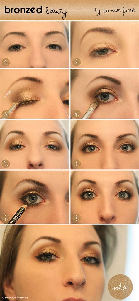 natural gold makeup tutorial bronzed beauty golden smokey eye tutorial wonder forest