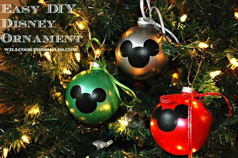 diy mickey mouse christmas decorations easy diy disney ornaments will cook for smiles