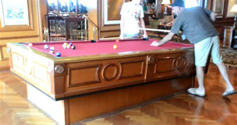 self leveling pool table on a cruise ship