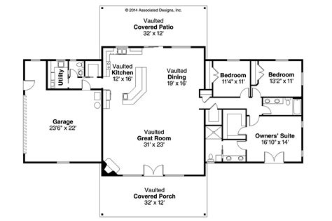 Ranch House Designs Floor Plans ranch house plan anacortes 30 936 floor plan