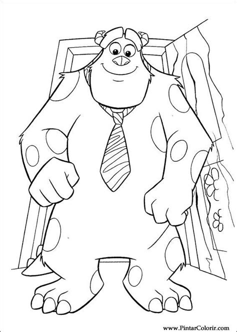 Dibujo Para Pintar De Monster Inc Imagui Inc Dibujos A Color