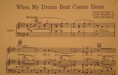dream boat music vintage when my dream boat comes home sheet music 1936 o