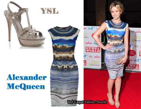 In Closet Mcqueen Carpet Fashion Awards by In Sammy Winward S Closet Mcqueen Dress Ysl