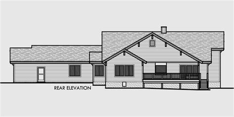 nice straight gable roof house plans 8 house rear