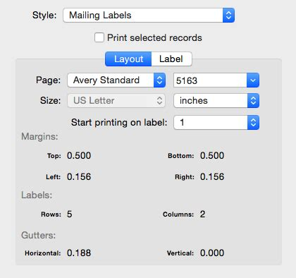 printing address labels from mac busycontacts mac printing envelopes and mailing labels