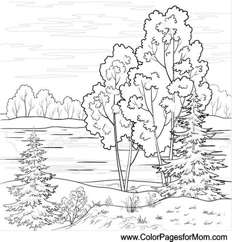 coloring pages landscapes landscape coloring page 16 colorpagesforadults coloring