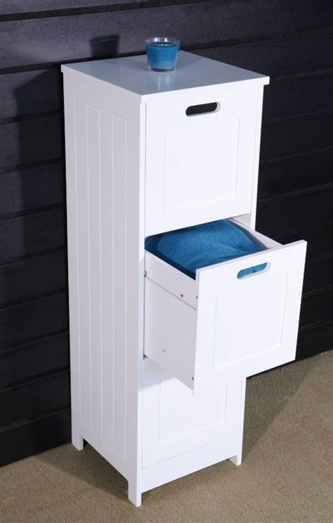 Floor Standing 3 Drawer Bathroom Storage Cabinet Cupboard 3 Drawer Bathroom Storage