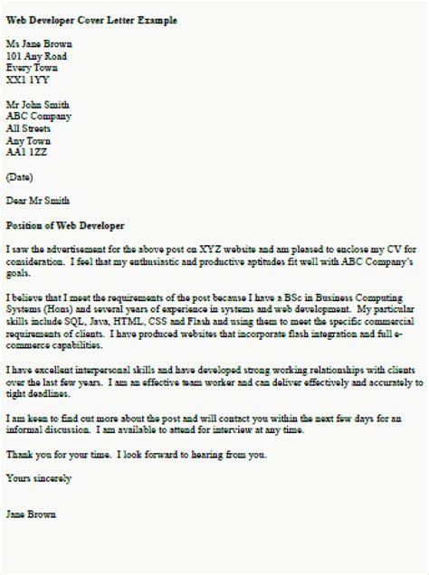 web developer cover letter web developer cover letter