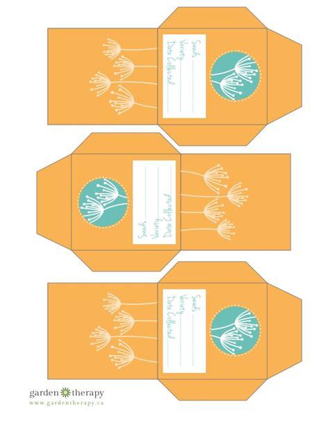 printable seed envelope free printable flower seed packets