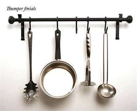 Kitchen Pan Rail Kitchen Pan Rail In Wrought Iron Wall Mount