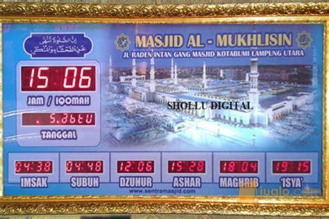Jadwal Sholat Digital Jadwal Waktu Sholat Jsd0260110rt jadwal sholat digital 01 jualo