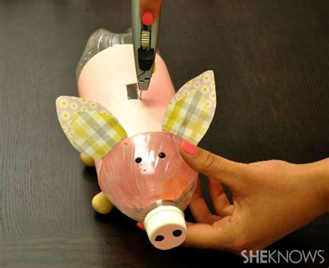 How To Make A Piggy Bank Out Of Paper Mache - create a piggy bank from a recycled water bottle