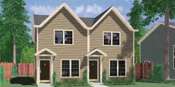 small narrow lot duplex floor plans further house with rear garage