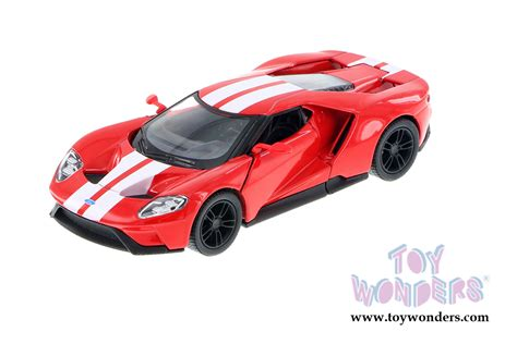 Diecast Car Kinsmart 2017 Ford Gt Stripe White 1 32 New Mib Sni 2017 ford gt top 5391fwr 1 38 scale kinsmart