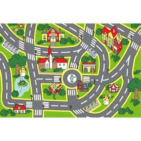 city rug for non slip road map city rug during days
