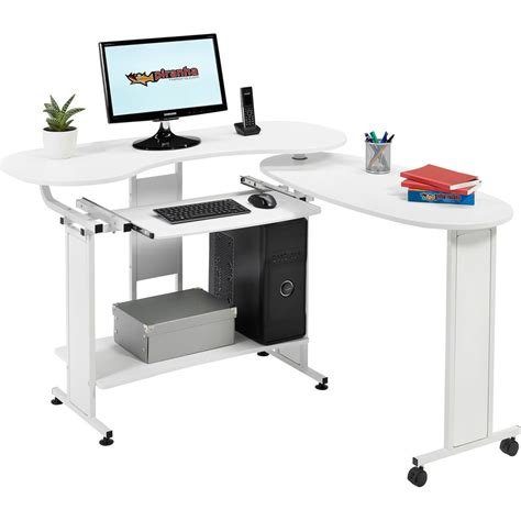 Compact Folding Computer Desk W Shelf Home Office Work Desk For