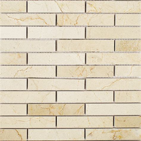 shop for crema marfil 3 4 x 4 big brick pattern marble tiles at tilebar