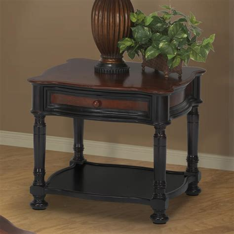 foley 2 drawer end table two tone new classic jamaica 03 0020 50 621 two tone end table with