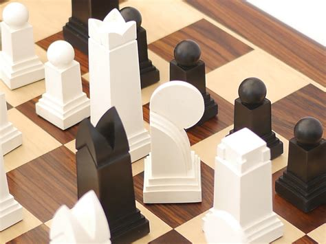Art Deco Chess Set by Art Deco Chess Pieces 0 1278 426100
