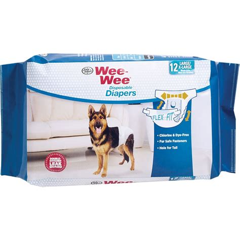 wee puppy paws four paws wee wee diapers x large 12 diapers