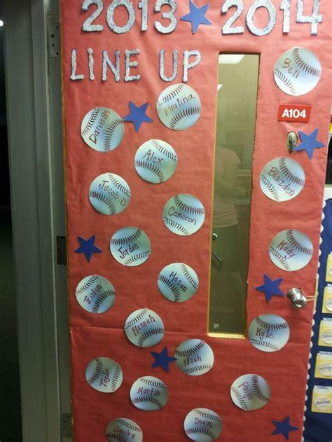 sports themed door decorations best 25 sports theme classroom ideas on