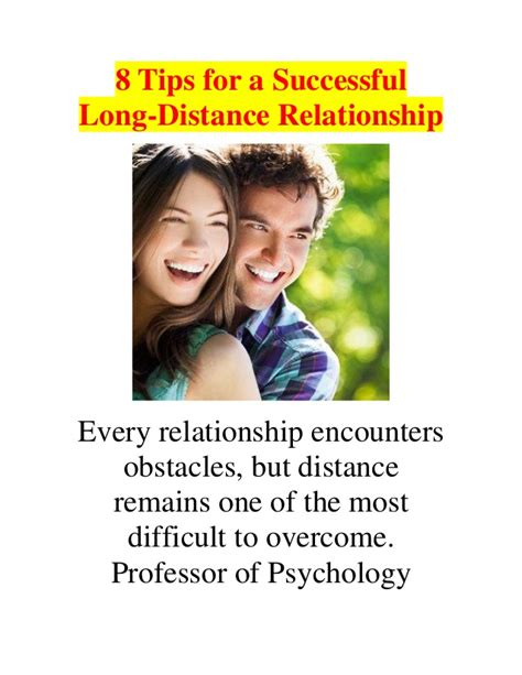 8 Tips On Being More Successful In 8 tips for a successful distance relationship