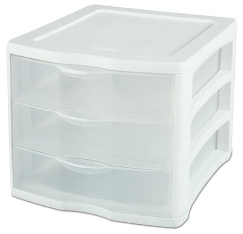 Clear Plastic Storage Drawers by Clear Plastic Storage Drawers Sterilite 17918004 3 Drawer