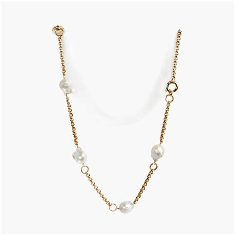 The Baroque Frame Necklace Versailles On A Chain by Baroque Pearls Necklaces Giancarlo Jewelry