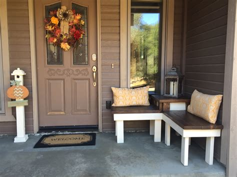 front porch bench remodelaholic build a corner bench with built in table