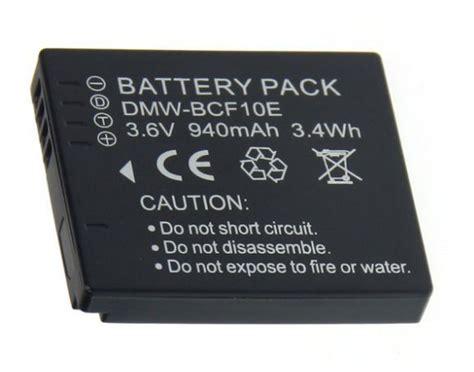 Panasonic Battery Dmw Bcf10 940mah baterie panasonic dmw bcf10 dmw bcf10e cga s 106c 940mah