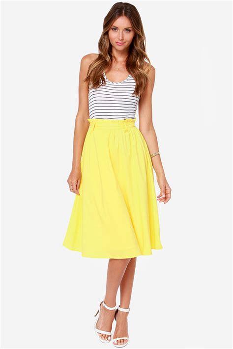 pretty yellow skirt midi skirt 49 00