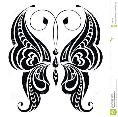 Abstract Butterfly Vector For Your Design Royalty Free
