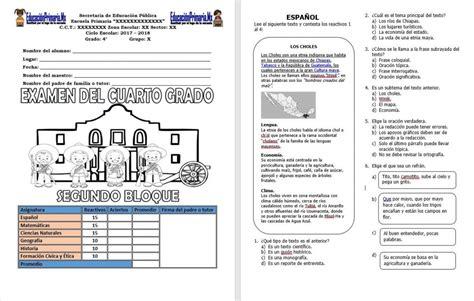 respuesta del examen del cuarto bloque 6 newhairstylesformen2014 com examen del cuarto grado para el segundo bloque del ciclo