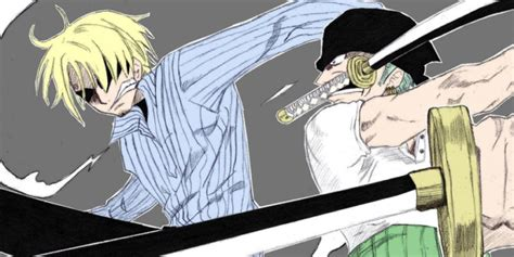one yorki alive zoro and sanji friends and rivals one