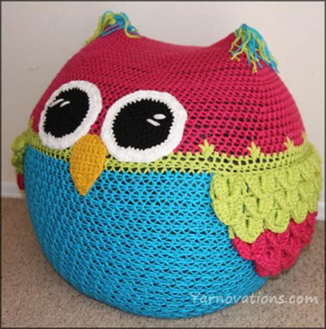 crochet pattern for bean bag chair owl bean bag chair