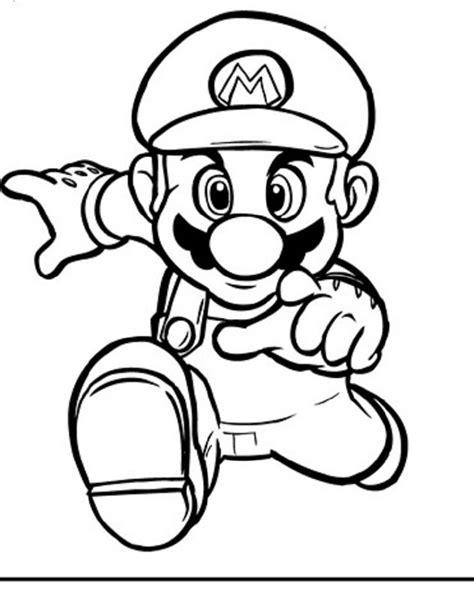 mario jumping coloring page super mario bros dibujos para colorear
