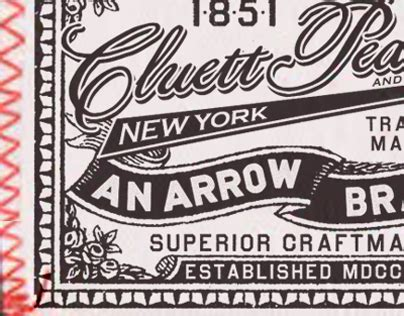 arrow cluett labels and packaging by glenn wolk via glenn wolk arrow cluett labels and packaging