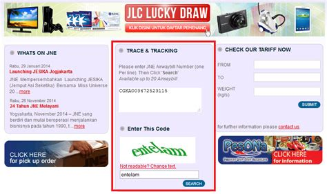 cara cek resi jne di web cara cek nomor resi pengiriman di web jne aditya web com