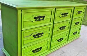 green vintage dresser bright buffet from aquaxpressions