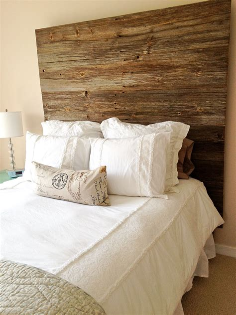 how to make a headboard out of wood and fabric barn wood headboard making this out of old red barn
