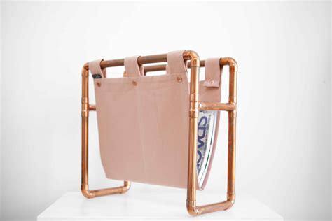 scandi home decor copper magazine rack scandi home decor